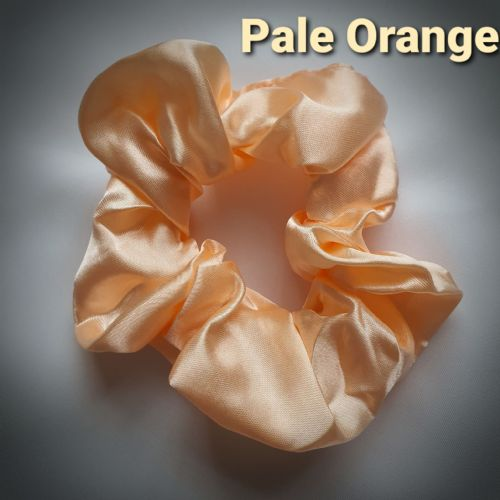 Pale Orange Satin Scrunchie